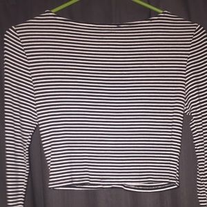 Forever 21 Tops - Forever 21 black and white striped top